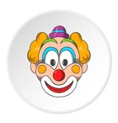 Head clown icon cartoon style vector image