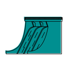 Hydroelectric plant icon image vector