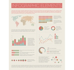 Infographics light retro colors vector