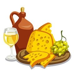Jug with wine vector