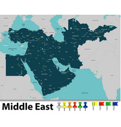Map of middle east vector