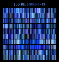 mega set of 100 blue gradients vector image vector image