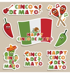 Mexican labels vector