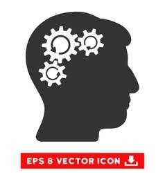 Mind gear rotation eps icon vector