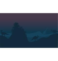 parasaurolophus in hills scenery vector image vector image