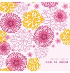 pink field flowers frame corner pattern background vector image vector image