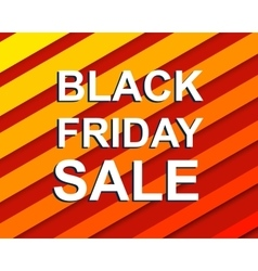 Red striped sale poster with black friday sale vector