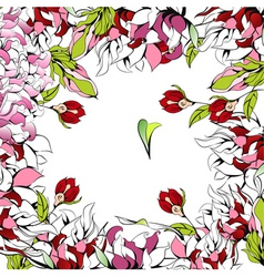 romantic background with beautiful flowers vector image