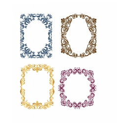 Royal frame set with luxurious ornaments vector