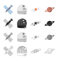 satellite study science and other web icon in vector image