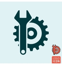 Service icon isolated vector