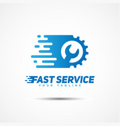 service template logo vector image vector image