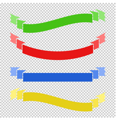 Set of colored flat insulated long ribbons vector