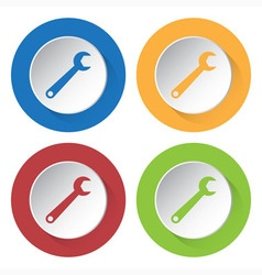 Set of four icons - spanner vector
