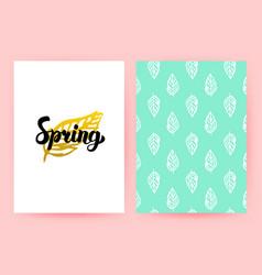 Spring pastel retro poster vector