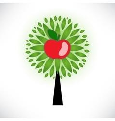Stylized apple tree vector