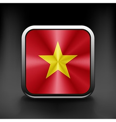 Vietnam icon flag national travel icon country vector