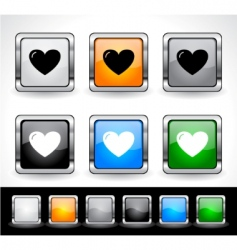 web design buttons vector image