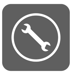 Wrench flat squared icon vector