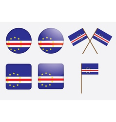 Badges with flag of cape verde vector