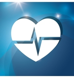 Heart medical cardiology vector