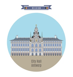 City hall antwerp vector
