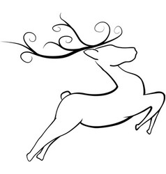 Jumping christmas reindeer vector