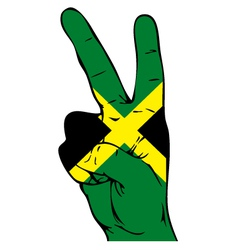 Peace sign of the jamaican flag vector