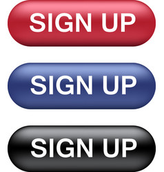 Sign up buttons collection vector