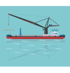 Black floating crane vector