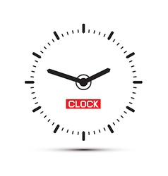 Abstract alarm clock vector