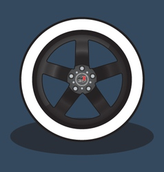 Car rim and tire vector