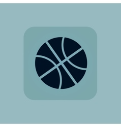 Pale blue basketball icon vector