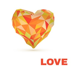 Low poly heart isolated on white background vector