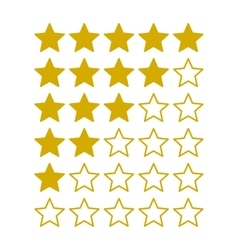 Simple rating stars on white background vector