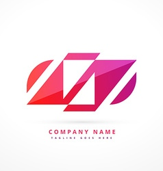 abstract colorful logo design vector image vector image