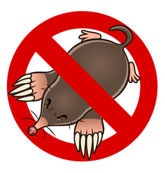 Anti mole sign vector