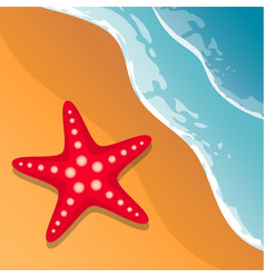 beach background sea shore the waves and sand vector image vector image