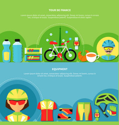 Bike banners set vector