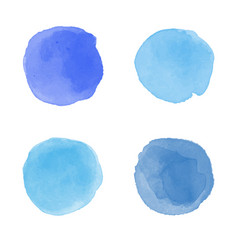 Blue watercolor splash vector