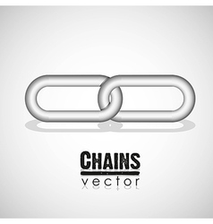 Chain link concept vector