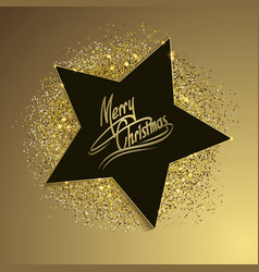 christmas background with star vector image vector image