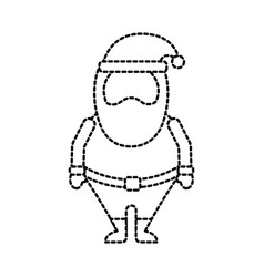 christmas happy santa claus cartoon cute vector image
