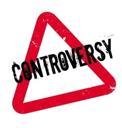 Controversy rubber stamp vector