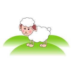 cute sheep lamb head vector image