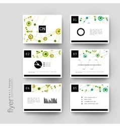 Dna molecule brochure template flyer vector