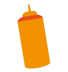 fast food sause bottle vector image vector image