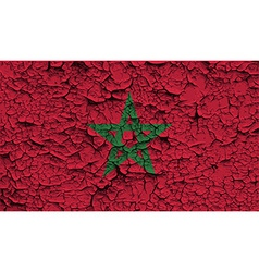 Flag of Morocco with old texture vector image