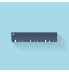 Flat ruler icon vector