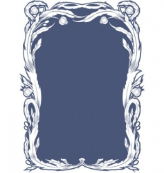 floral tiffany style frame vector image